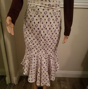 Perry Ellis 100% Silk Flutter skirt